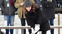 Prince William and Kate's hockey shootout