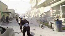 Les habitants d'Idleb sous le feu des bombes