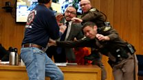Victims' father attacks Larry Nassar