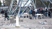 Migrants clash in Calais mass brawl