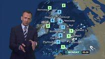 UK Weather: Rain, sleet, hail and snow