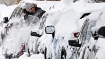Moscow struggles with 'snowfall of century'