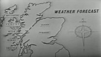 BBC weather TV forecast from June 1959