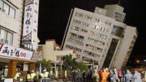 El impresionante rescate en un edificio inclinado a 45º por el terremoto de Taiwán