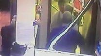 Chilli powder 'assault' trial shown CCTV