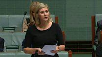 Australia MP bears soul in parliament