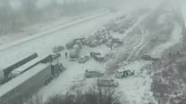 Time-lapse footage shows Iowa pile-up