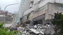 台湾の地震、死者少なくとも7人に 多数不明