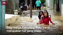 "Banjir Kampung Pulo: ""Enak tinggal di sini daripada di rusun"""