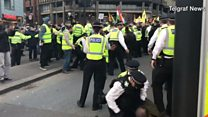Met officer 'appears to punch protester'