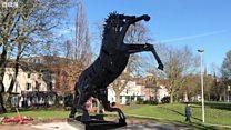 Horse sculpture makes a comeback after revamp