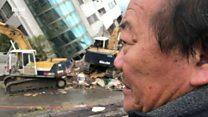 台湾花莲地震灾民重返现场 慨叹痛失家园、回家无期