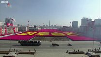 Военный парад в КНДР накануне Олимпиады