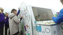Meet Bertha, the colour-in caravan