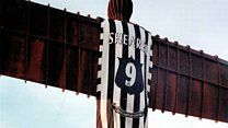 The Angel of the North's Shearer shirt