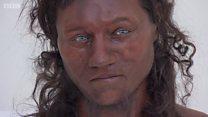 """الإنسان البريطاني القديم """"داكن البشرة أزرق العينين"""""""