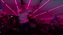 Welcome to a rave - in zero gravity