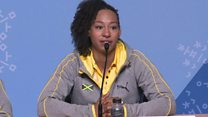 Bobsleigh star's tearful diversity comment