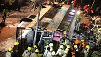 Aftermath of Hong Kong bus crash