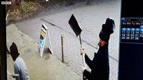 CCTV captures masked men attacking shop