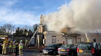 Railway station blaze tackled by firefighters
