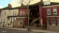 Footage shows collapsed London house