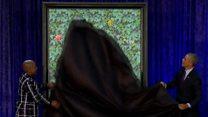 オバマ夫妻、公式肖像画お披露目 「条件交渉」したが