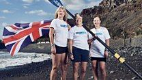 Atlantic Ladies rowing team celebrate
