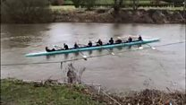 Rowers hit barge in river crash