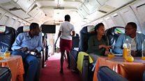 تعرف على مقهى طائرة الخطوط الجوية الإثيوبية