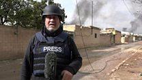 مراسل بي بي سي عند خطوط القتال قرب عفرين