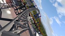 Virtual ride on £16m rollercoaster