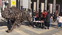 Yerevan: Rəqslə qadınlara qarşı zorakılığa etiraz
