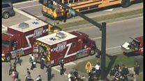 まさかこんな安全な場所で 米フロリダ州高校乱射