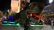 Evil rat stars in political Rio parade
