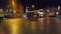 Gritting lorry crash 'life-threatening'