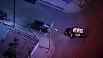 Woman driver leads LA police on car chase