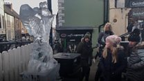 Storybook characters take shape in ice