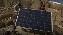 Solar solution for remote community