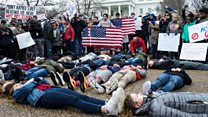 Students protest over Florida shooting