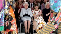 The Queen on London Fashion Week's 'frow'