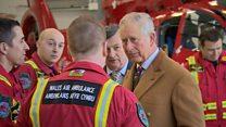 Prince Charles meets air ambulance staff