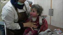 'Pelo menos no céu ele vai ter comida': o drama das crianças em meio aos bombardeios a Ghouta, na Síria