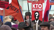 Russians march in memory of murdered opposition leader