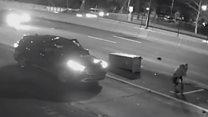 Vandal destroys traffic camera