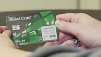 Smart credit card shows adverts from banks