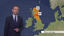 Red and amber weather warnings across UK