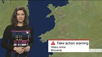 Red 'extreme' snow threat for Wales