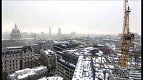 ロンドンの珍しい雪景色 タイムラプスで