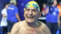 The record-breaking 99-year-old swimmer
